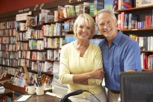 couple in bookshop